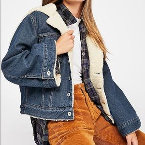 Levi's Made & Crafted Sherpa Cropped Denim Jacket